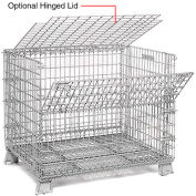 40 X 48 Folding Wire Container Accessory Lid-Hinged