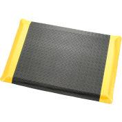 "Diamond Plate Ergonomic Mat 9/16"" Thick 24""X36"" Black/Yellow Border"