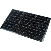 Marbleized Top Matting 36 Inch X 60 Inch Black
