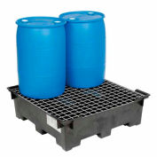Global Industrial Spill Containment Sump with Wire Deck