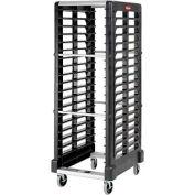 Rubbermaid® 3320 End-Load Black Plastic Tray Truck