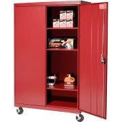 Sandusky Mobile Storage Cabinet TA3R462460- 46x24x66, Red