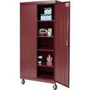 Sandusky Mobile Storage Cabinet TA4R302466 - 30x24x72, Burgundy