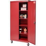 Sandusky Mobile Storage Cabinet TA4R302466 - 30x24x72, Red