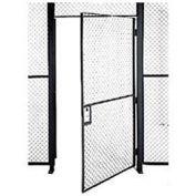 Husky Rack & Wire EZ Wire Mesh Partition Hinged Door - 4'Wx10'H