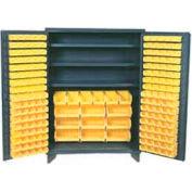 "Jamco Bin Cabinet GM260KB - 14 ga. Welded with 185 Bins Flush Door - 60""W x 24""D x 78""H"