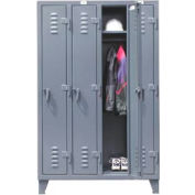 Strong Hold® Heavy Duty Slim-Line Locker 46-18-1TSL - Single Tier 50x18x78 4 Door