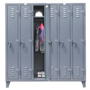 Strong Hold® Heavy Duty Slim-Line Locker 66-18-1TSL - Single Tier 74x18x78 6 Door