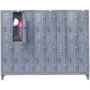 Strong Hold® Heavy Duty Slim-Line Locker 86-18-2TSL - Double Tier 98x18x78 16 Door