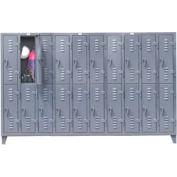 Strong Hold® Heavy Duty Slim-Line Locker 106-18-2TSL - Double Tier 122x18x78 20 Door