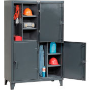 Strong Hold® Personnel Locker 46242TPL4DOOR - Double Tier 50x24x78 4 Doors Assembled Gray
