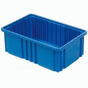 """Plastic Dividable Grid Container - DG91035,10-7/8""""L x 8-1/4""""W x 3-1/2""""H, Blue - Pkg Qty 20"""