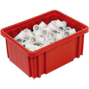 "Global Industrial™ Plastic Dividable Grid Container - DG91050,10-7/8""L x 8-1/4""W x 5""H, Red - Pkg Qty 20"