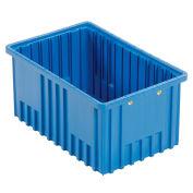 """Plastic Dividable Grid Container - DG92080,16-1/2""""L x 10-7/8""""W x 8""""H, Blue - Pkg Qty 8"""