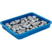 """Plastic Dividable Grid Container - DG93030, 22-1/2""""L x 17-1/2""""W x 3""""H, Blue - Pkg Qty 6"""