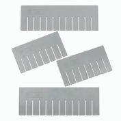 Global Industrial™ Length Divider DL92080 for Plastic Dividable Grid Container DG92080, Qty 6
