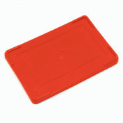 """Global Industrial™ Lid COV92000 for Plastic Dividable Grid Container, 16-1/2""""L x 10-7/8""""W, Red - Pkg Qty 4"""