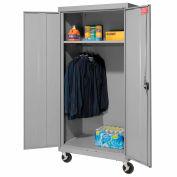 Sandusky Mobile Wardrobe Cabinet TAWR362472 - 36x24x78, Gray