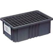 """Quantum Conductive Dividable Grid Container - DG93060CO, 22-1/2""""L x 17-1/2""""W x 6""""H, Black - Pkg Qty 3"""