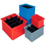 Akro-Mils Akro-Grid Dividable Container 33166 16-1/2 x 10-7/8 x 6 Blue - Pkg Qty 8