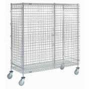 Nexel® Wire Security Storage Truck 36 x 14 x 69 with Brakes 1200 Lb. Cap.