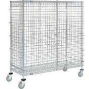 Nexel® Wire Security Storage Truck 48 x 14 x 69 With Brakes 1200 Lb. Cap.