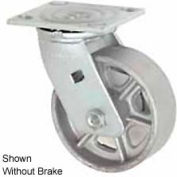 "Faultless Swivel Plate Caster 1406-4RB 4"" Steel Wheel with Brake"