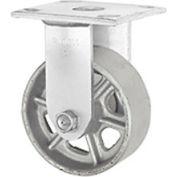 "Faultless Rigid Plate Caster 3406-6 6"" Steel Wheel"