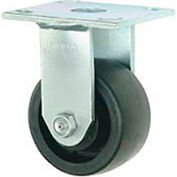 "Faultless Rigid Plate Caster 3465W-6 6"" Thermoplastic Wheel"