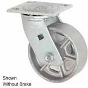 "Faultless Swivel Plate Caster 1406-8RB 8"" Steel Wheel with Brake"