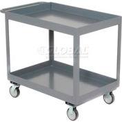 "Jamco Gray All Welded 3"" Deep Shelf Cart LT236 1200 Lb. Capacity 36x24"