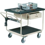 "Deluxe Instrument Cart 36 x 24 With 5"" Casters"