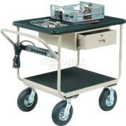 "Deluxe Instrument Cart 36 x 24 With 8"" Casters"