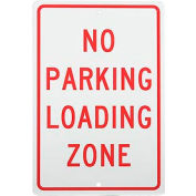 "Aluminum Sign - No Parking Loading Zone - .063"" Thick, TM14H"