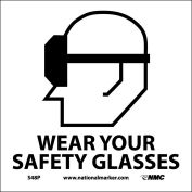 Graphic Facility Signs - Wear Your Safety Glasses - Vinyl 7x7