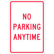 "Aluminum Sign - No Parking Anytime - .080"" Thick, TM2G"