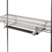 Slide-Out Chrome Wire Keyboard Drawer