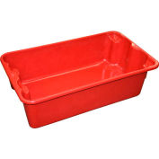 """Molded Fiberglass Nest and Stack Tote 780208 - 17-7/8"""" x10""""-5/8"""" x 5"""" Red - Pkg Qty 12"""