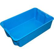 "Molded Fiberglass Nest and Stack Tote 780308 - 19-3/4"" x 12-1/2"" x 6"" Blue - Pkg Qty 10"