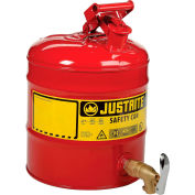 Justrite® 5 Gallon Safety Shelf Can with Bottom Faucet 08902, 7150150