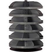 "Durham 34"" Diameter Rotabin® Revolving Parts Storage Shelving Center 1306-95 - 6 Shelves"