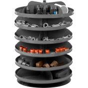 "Durham 17"" Diameter Rotabin® Revolving Parts Storage Shelving Center 1106-95 - 6 Shelves"