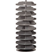 "Durham 17"" Diameter Rotabin® Revolving Parts Storage Shelving Center 1110-95 - 10 Shelves"