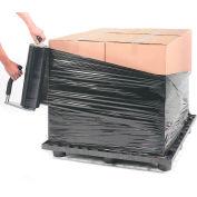 """Black Stretch Wrap 18"""" x 1500' x 80 Gauge - Pkg Qty 4"""