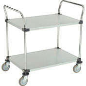 Nexel® Galvanized Steel Utility Cart 2 Shelves 36x24