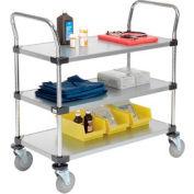 Nexel® Galvanized Steel Utility Cart 3 Shelves 36x18