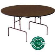 "Correll Folding Table - Laminate - 60"" Round - Walnut"