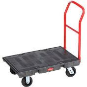 Rubbermaid® FG440300BLA Plastic Deck Platform Truck 36 x 24 1000 Lb. Capacity