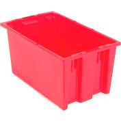 "Akro-Mils Nest & Stack Tote 35180 - 18""L x 11""W x 6""H, Red - Pkg Qty 6"