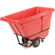 Rubbermaid® 1305 Standard Duty 1/2 Cu. Yd. Red Tilt Truck